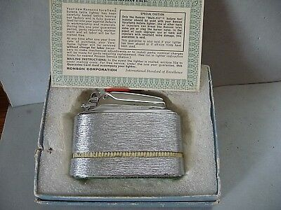 Vintage Ronson table lighter Meteor with Guarantee card & half box NOS