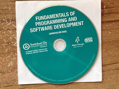 2015 Switched on Schoolhouse Fundamentals of Programming & Software Development