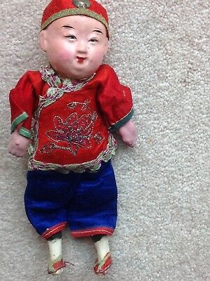 Vintage Chinese Composition Doll: Boy #25