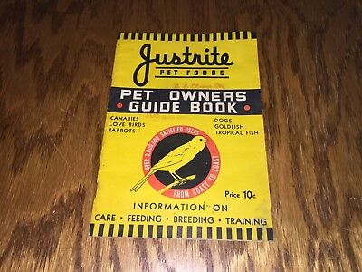 Justrite Pet Foods Pet Owner Guide Book 10th Edition Justrite Company