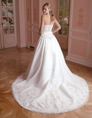 Wedding Dress ~ Casablanca - white- organza/satin Bridal gown!