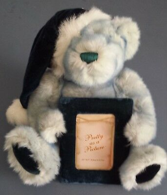 Blue Teddy Bear with Picture Frame by Dan Dee