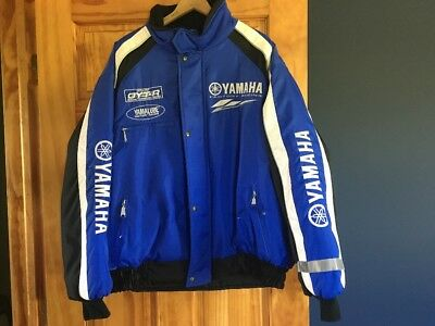 YAMAHA Men Snowmobile Jacket Yamalube Factory Racing Sz. Lg Blue White