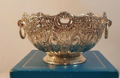 """NEW Raimond Silver Plate """"Montieth"""" Style Bowl with Ringed Handles - Trophy Bowl"""