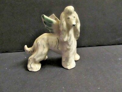 Kay Finch California Pottery Afghan Hound Dog with Angel Wings