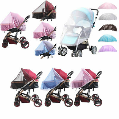 Baby Buggy Pram Mosquito Cover Net Stroller Fly Insect Protector Cover- Purple
