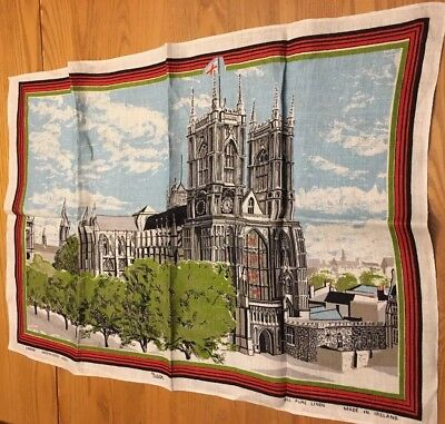 Vintage Kitchen Towel Ulster Pure Linen London Westminster Abbey