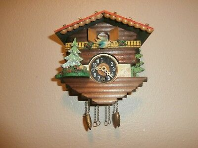 Vintage A. Taron MINIATURE NOVELTY CUCKOO CLOCK Made in Germany---PARTS/REPAIR