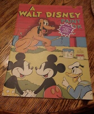 A Walt Disney Paint Book- Giant Coloring Book FN condition-Whitman 1975