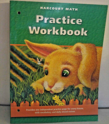 HARCOURT MATH 1ST GRADE 1 PRACTICE WORKBOOK HOMESCHOOL CONSUMABLE LIKE NEW