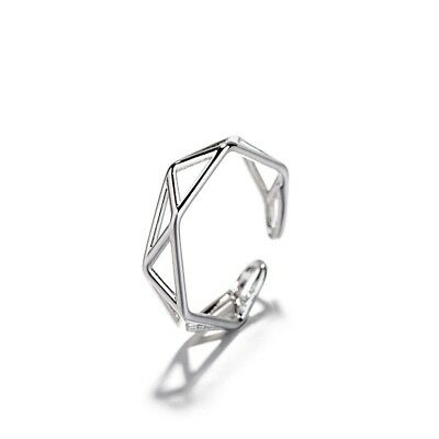 Women Finger Ring Hollow Geometry Alloy Open Ring Vintage Fashion Punk Jewelry