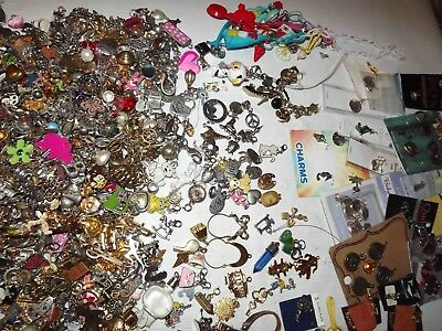 Huge Lot Of Over 500 Modern Charms Jewelry & More *lqqk*