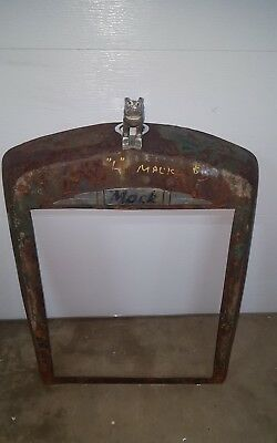 Antique Early Mack L Model Fire Truck Front Grill With Emblem & Hood Ornament!