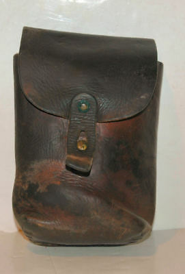 Vintage Men's LEATHER BELT POUCH -- Ammo, Outdoor Travel, Hiking, Phone Pouch
