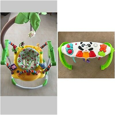 Fisher Price Play Gym And Roger Armstrong Jungle Fever Jumper
