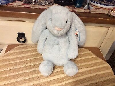 Baby Rattles Soft Rattle Baby Toy Wooly Blue Bunnie Rabbit Sherbpa