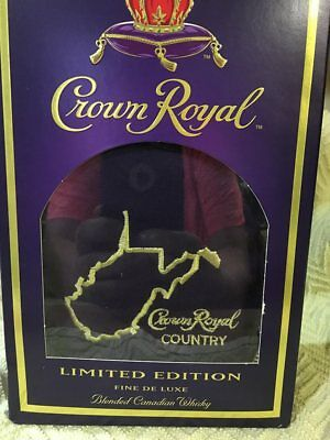 Crown Royal Box and Bag with State of WV !! Collector's Bag & Box Only!!