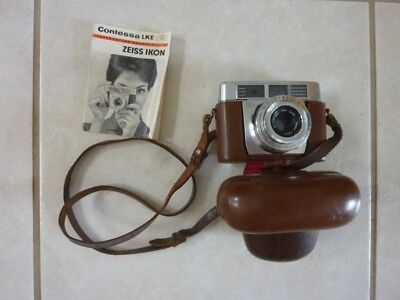 Camera Zeiss Ikon Contessa LKE with leather case and instruction book
