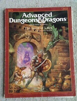 TSR 1st Ed Advanced D&D 1986 REF3: The Book of Lairs. Opened, completely clean!