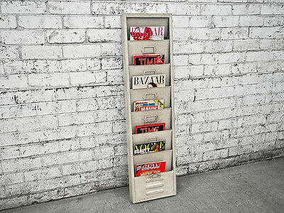 Industrial Wall Hanging Magazine Rack Newspaper Retro Vintage Holder Iron Cafe