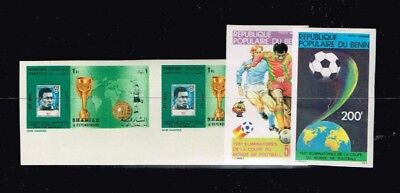 Sharjah 1970.Benin 1982.World Cup.Soccer.Football.Fussball.Imperfor.Pele.MNH**