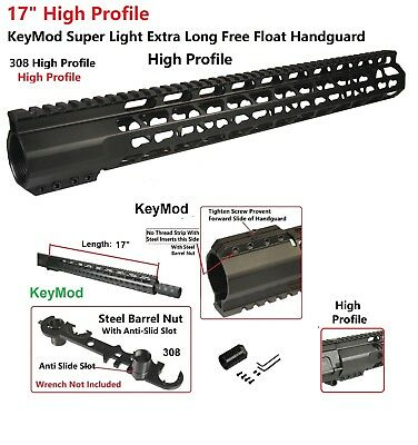 "KeyMod Super Slim Extra Long 19.25/"" High Profile Free Float Handguard Rail .308"