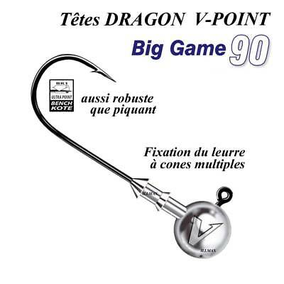 têtes plombees big game dragon v-point
