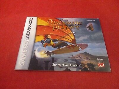 Treasure Planet Nintendo Game Boy Advance Instruction Manual Booklet ONLY