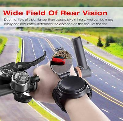 Bicycle Rear View Mirror Wrist Wrist Band Bike Rear View Mirror 360° Adjustable
