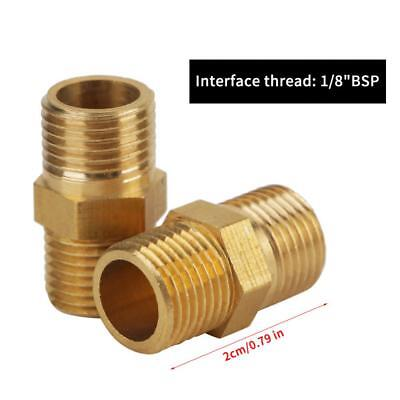 """20pcs 1/8"""" to 1/8"""" Male BSP Threaded Brass Hex Nipple Pipe Fitting Quick Adapter"""