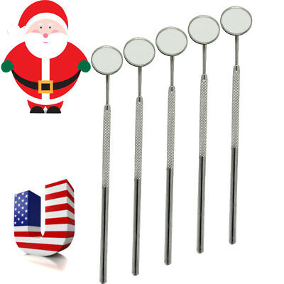 5x USA Dental Oral Mouth Mirror Reflector Handle Dentist Stainless Steel Durable