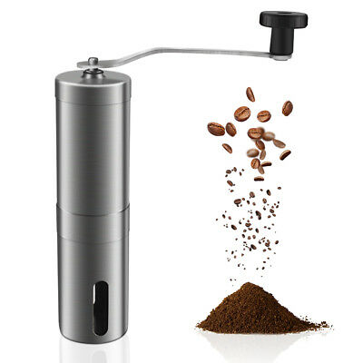 Stainless Steel Manual Coffee Bean Grinder Spice Nuts Grinding Mill Hand Tool