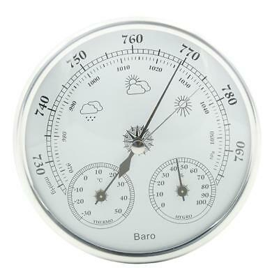 3 in1 Wall Mounted Barometer Thermometer Hygrometer Weather Station Hanging