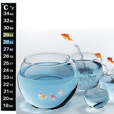 10*Temperature Thermometer Aquarium Fish Tank Sticker Adhesive Home Brew Beer