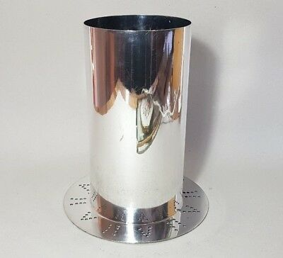 """Vintage Silver Plated Champagne Wine Bottle Cooler Stand 7"""" Tall"""