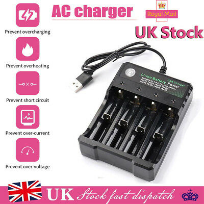 4 Slot Intelligent Multi Battery Charger for 10440 18650 16340 14500 AA AAA