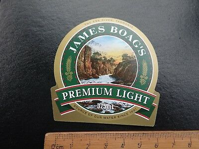 1 x 375ml JAMES BOAGS PREMIUM LIGHT COLLECTABLE BEER LABEL