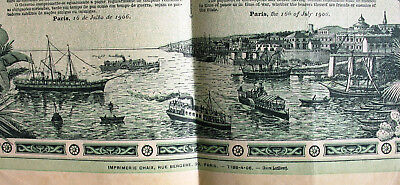 Brazil state of amazon gold loan Paris 1906 Ètat de l´ Amazone Brasilien Schiff