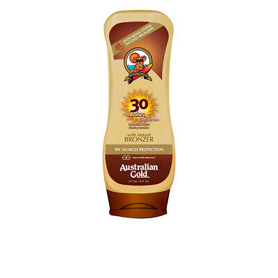 Cuerpo Australian Gold unisex SUNSCREEN SPF30 lotion with bronzer 237 ml