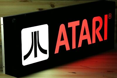 Last New Original Atari® 1984 Lighted Sign In Original Box  SignBoard Collector'