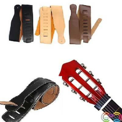 Adjustable Black Soft Leather Thick Strap for Electric Acoustic Guitar-Bass.UK