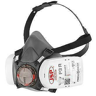 JSP Force 8 Half Mask Respirator Ready Fitted with Press To Check P3 Filters