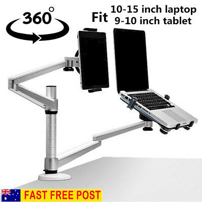 2 in 1 360º Rotating Height Adjust Laptop/ipad Pro /Tablets Desk/Bed Stand/Mount