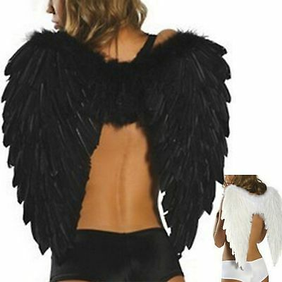 Adult Kid Feather Wings Angel Fairy Fancy Dress Costume Halloween Party Favor AU