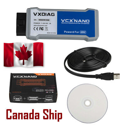 Canada Ship VXDIAG VCX NANO tech2win and GDS2 Code Reader Tool for G-M/OPEL GDS2
