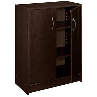 Closet Systems 8925 2 Door Stackable Laminate Organizer, Espresso