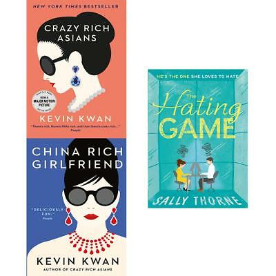 Hating Game Crazy Rich Asians China Rich Girlfriend 3 Books Collection Set