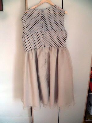 LINDY BOP Prom Dress  Beige  size 26 BNWT