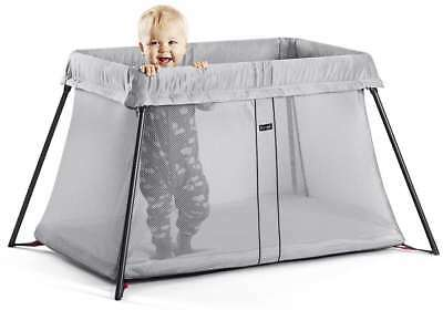 *** Baby Bjorn Travel Cot Light (Silver Mesh) Great Condition RRP $395 ***