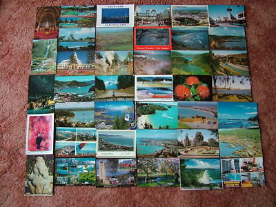 40 Postcards of NEW ZEALAND.  1970's onwards. Used and Unused...